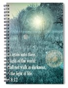 Jesus The Light Of The World Spiral Notebook