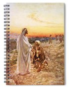 Jesus Withe The One Leper Who Returned To Give Thanks Spiral Notebook