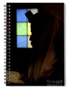 Jewish Man With Tallith And Tefillin Spiral Notebook