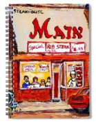 Jewish Montreal Vintage City Scenes The Main Rib Steaks On St. Lawrence Boulevard Spiral Notebook