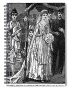 Jewish Wedding, C1892 Spiral Notebook