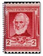 John Greenleaf Whittier Postage Stamp Spiral Notebook