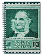 John James Audubon Postage Stamp Spiral Notebook