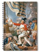 John Paul Jones Shooting A Sailor Who Had Attempted To Strike His Colours In An Engagement Spiral Notebook