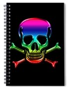 Jolly Roger Rainbow Spiral Notebook