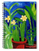 Jonquils And Bamboo Plant Spiral Notebook