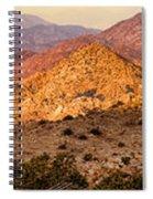 Joshua Tree Sunrise Panorama Spiral Notebook
