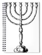 Judaism: Menorah Spiral Notebook