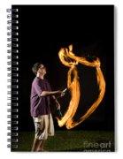 Juggling Fire Spiral Notebook
