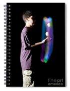 Juggling Light-up Balls Spiral Notebook