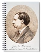 Jules A.h. De Goncourt (1830-1870). French Novelist: Engraving After A Contemporary Portrait On Enamel Spiral Notebook