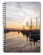 July Evening In The Marina Spiral Notebook