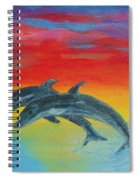 Jumping Dolphins Left Spiral Notebook