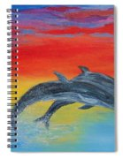 Jumping Dolphins Right Spiral Notebook
