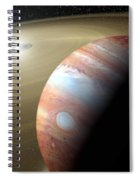 Jupiter And Moon Spiral Notebook