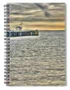 Just Sailing By Grunge Spiral Notebook