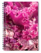 Kale Plant With Melting Snow Spiral Notebook