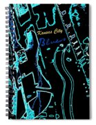 Kansas City Blues Spiral Notebook