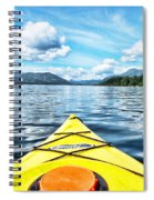 Kayaking In Bc Spiral Notebook
