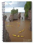Kayaks At Hopewell Rocks Spiral Notebook