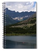Kayaks On Swiftcurrent Lake Spiral Notebook