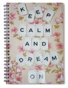Keep Calm And Dream On Spiral Notebook
