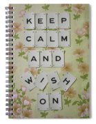 Keep Calm And Wish On Spiral Notebook
