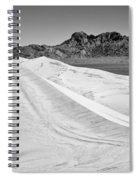 Kelso Sand Dunes Bw Spiral Notebook
