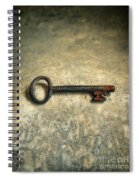 Key With Blood On It. Spiral Notebook