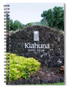 Kiahuna Golf Club Spiral Notebook