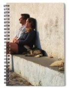 Kicking Back In Greece Spiral Notebook