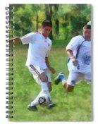 Kicking Soccer Ball Spiral Notebook