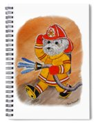 Kids Art Firedog Firefighter  Spiral Notebook