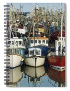 Kilkeel, Co Down, Ireland Rows Of Boats Spiral Notebook