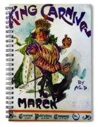 King Carnaval March - Mardi Gras Spiral Notebook