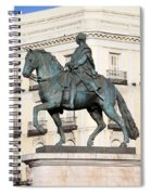 King Charles IIi Statue In Madrid Spiral Notebook