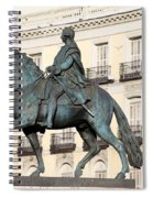 King Charles IIi Statue On Puerta Del Sol Spiral Notebook