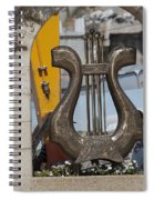 King David's Harp Spiral Notebook