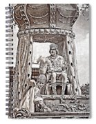King Of Rex - Painted Bw Spiral Notebook