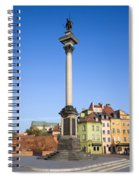 King Sigismund Column In Warsaw Spiral Notebook