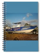 Kingfish Boat Wrap Spiral Notebook
