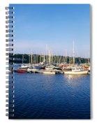 Kinsale, Co Cork, Ireland Moored Boats Spiral Notebook