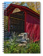 Kissing Bridge 2 Painted Spiral Notebook