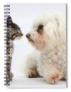 Kitten & Pup Confrontation Spiral Notebook