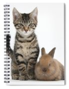 Kitten And Rabbit Spiral Notebook
