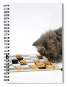 Kittens Playing Checkers Spiral Notebook