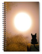 Kitty And The Moon Spiral Notebook