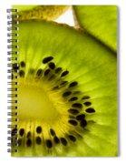 Kiwi Fruit Macro 5 Spiral Notebook