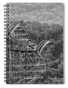 Knobels Wooden Roller Coaster Black And White Spiral Notebook