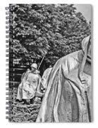 Korean War Memorial Spiral Notebook